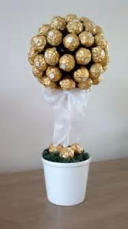 goldene hochzeitsgeschenke ferrero rocher baum