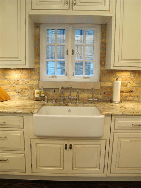 kitchen  brick backsplash brick backsplash  white
