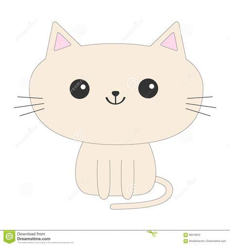 icono lindo gato que se sienta personaje de dibujos animados divertido animal de kawaii cola