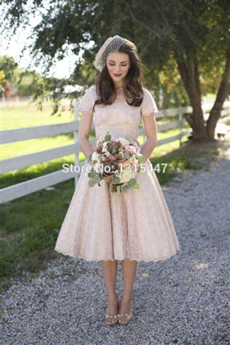 Popular Champagne Colored Tea Length Wedding Dresses Buy
