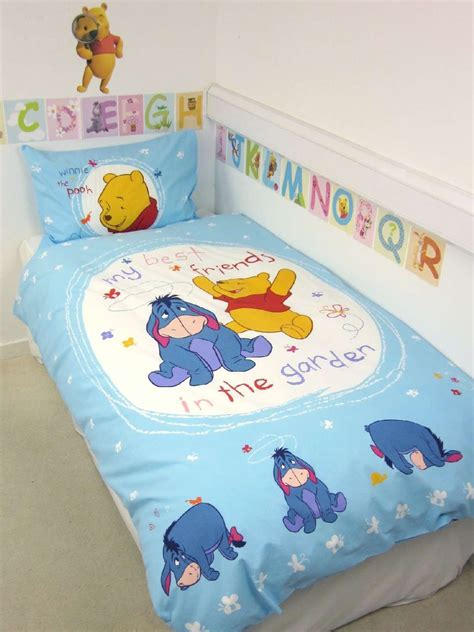 housse de couette winnie l ourson 140 x 200 cm parure de lit in the garden decokids
