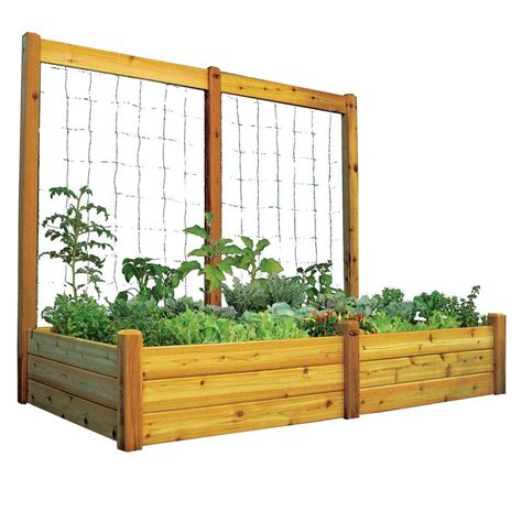 gronomics 48 in x 95 in x 19 in raised garden bed with