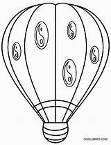 Balloon Coloring Air Printable Colouring Basket Cool2bkids Sheets Drawing Template Getdrawings Adults sketch template