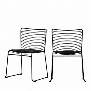 Chaise Design Metal : lot de 2 chaises design m tal muck drawer ~ Teatrodelosmanantiales.com Idées de Décoration
