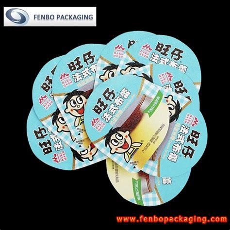 aluminum foil lids supplier pudding packaging