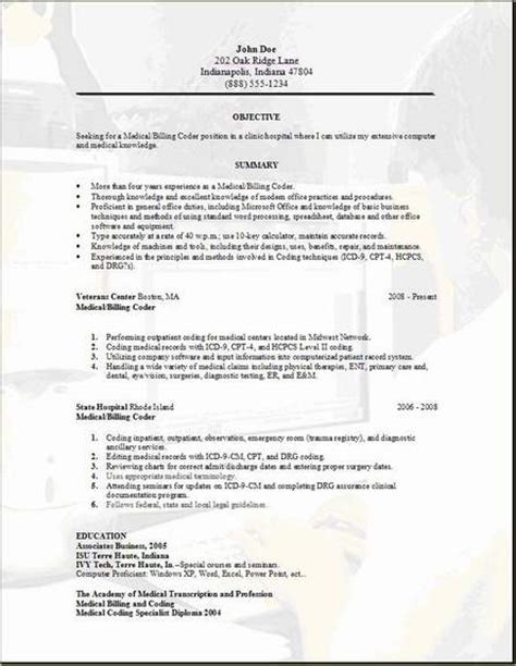 Billing And Coding Resume by Billing Resume Occupational Exles Sles Free Edit With Word