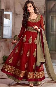 Latest Anarkali Frock Fashion Suits With Churidar Designs ...