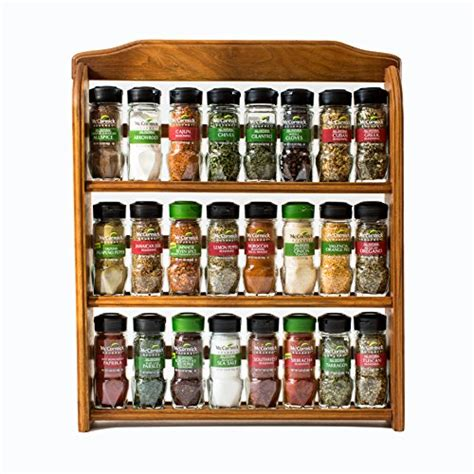 Buy Spice Rack With Spices by Mccormick Gourmet Spice Rack Three Tier Wood 24 Count