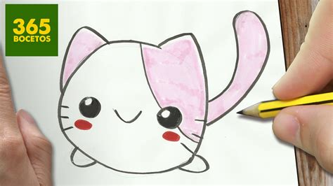 como dibujar gato kawaii paso a paso dibujos kawaii faciles how to d 365bocetos