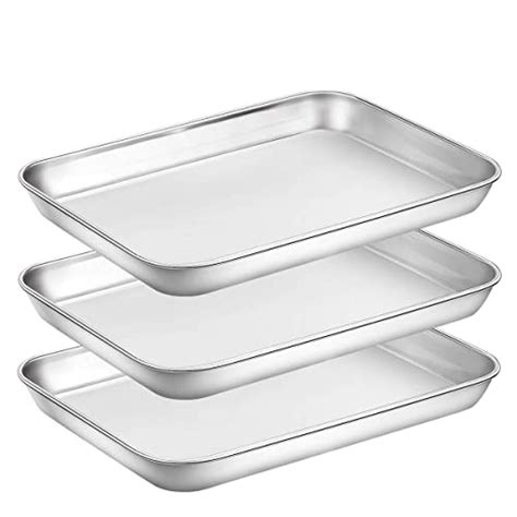 baking dishwasher pan safe pans toaster oven amazon superior chef cookie sheets mirror finish stainless clean sheet piece inch steel