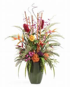 Beautiful Tropical Resort Artificial Flower Arrangement At