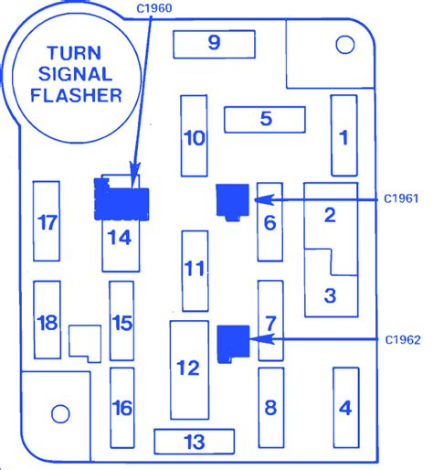 Wiring Diagram Circuit Breaker Locator by Ford Bronco Ii 4wd 4 Cyl 1985 Fuse Box Block Circuit