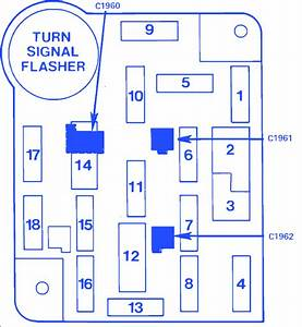 Ford Bronco Ii 4wd 4 Cyl 1985 Main Fuse Box  Block Circuit Breaker Diagram