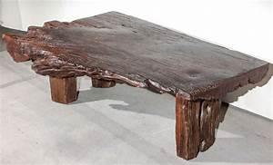 reclaimed wood slab coffee table at 1stdibs With how to make a wood slab coffee table
