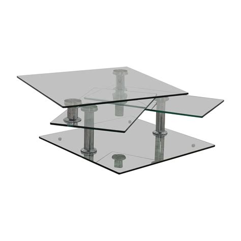 85% Off  Z Gallerie Z Gallerie Movable Glass Coffee Table