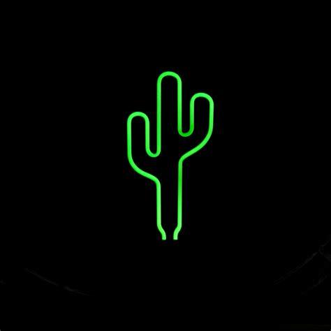 retro neon sculpture real glass cactus neon l sign