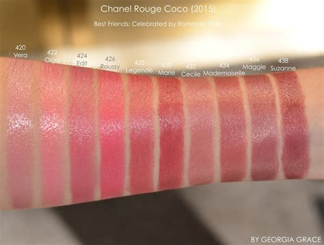 colors channel chanel coco swatches of all shades by grace