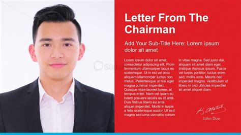letter   chairman powerpoint template slidemodel