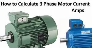 3 Phase Motor Current Calculation Formula Explained