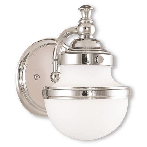Bathroom Sconces Chrome by Livex Lighting Oldwick 1 Light Polished Chrome Bath Light