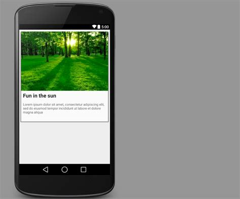android cardview  stacktips