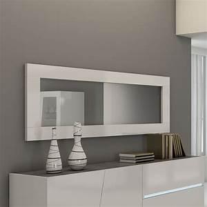 Miroir Design Blanc Lizea Zd1jpg