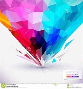 Abstract Geometric Colorful Composition. Stock Photography ...