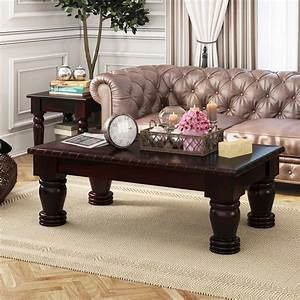 Vallecito, Country, Style, Rustic, Solid, Wood, Large, Coffee, Table