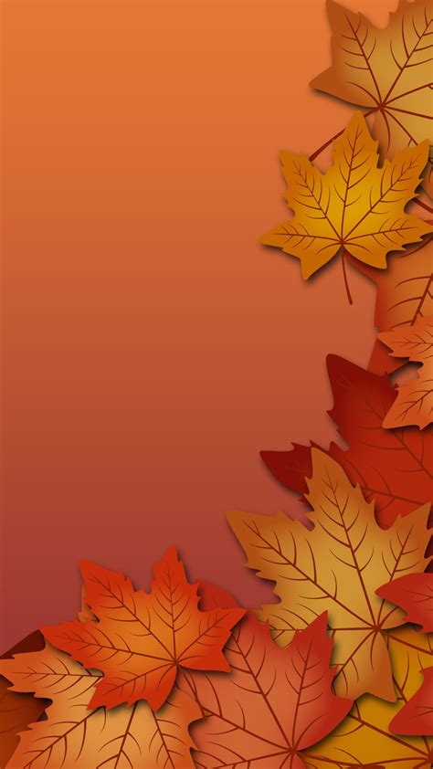 Aesthetic Fall Backgrounds Iphone by Autumn Leaves Mobile Wallpaper 2499 Autumn Leaves