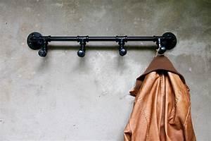 Garderobe Aus Rohren : vintage loft garderobe eisenrohre rohrhaken industrie panel ~ Watch28wear.com Haus und Dekorationen