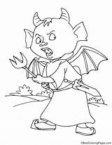 Devil Trident Coloring Pages sketch template