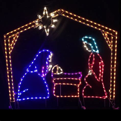 led outdoor christmas decorations lighted religious