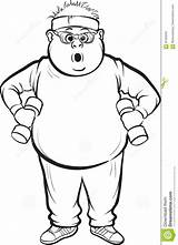 Fat Drawing Training Coloring Whiteboard Line Sketch Illustration Vector Dreamstime sketch template