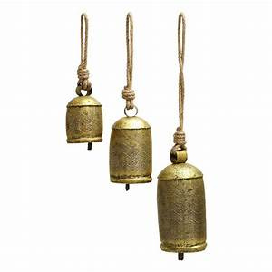Shop Woodland Imports 22 In In Brass Metal Bell Wind