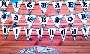 printable michael jackson party supplies mj birthday With banner letters michaels