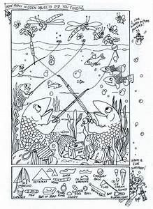 Summer Fun  Coloring Page  With