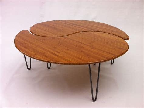 Yin Yang Nesting Large Round Coffee Table Mid Century Modern