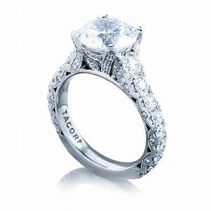 Tacori engagement rings royalt round setting 165ctw for Wedding rings tacori