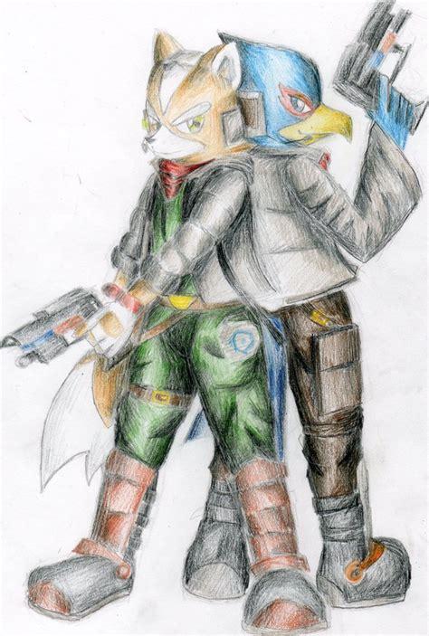 Fox And Falco Star Fox Fan Art 22419493 Fanpop