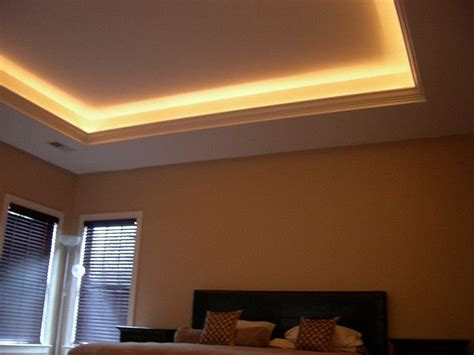 Installing Tray Ceiling by Lighted Tray Ceiling My Home Tray Ceiling Bedroom
