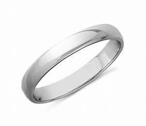 classic wedding ring in 14k white gold 3mm blue nile With white wedding ring