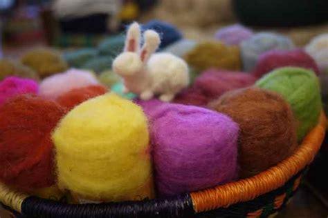 needle felting workshop  bags full yarn store