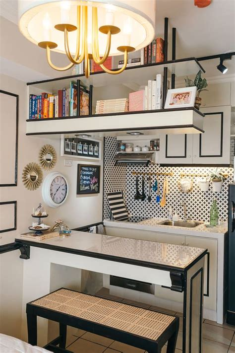 small kitchen decorating ideas for apartment a 22sqm studio unit with traditional and contemporary