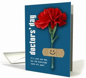 Doctos Note Happy Doctors 39 Day Red Carnation Card 1049597