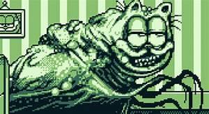 Walmart Garfield Creepy Garfield Art Gets Reimagined As A Gameboy Style