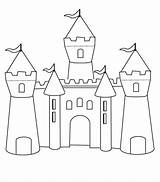Castle Coloring Pages Template Bounce Printable Princess Templates Castles Colouring Disney Medieval sketch template