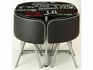 Table Pliante Avec Chaise : ensemble table 4 chaises town vente de ensemble table et chaise conforama ~ Teatrodelosmanantiales.com Idées de Décoration