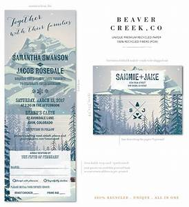 Mountain wedding invitations recycled paper beaver creek for All in one wedding invitations recycled