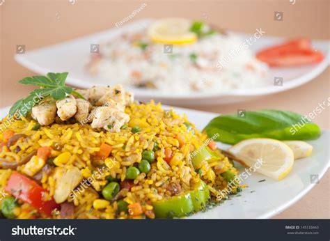 biryani indian cuisine chicken biryani indian cuisine stock photo 145133443