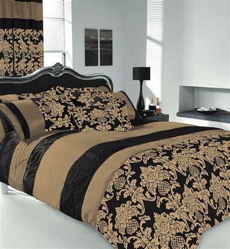 King Size Duvet Cover Sets by Apachi King Size Duvet Cover Bedding Set Black Gold